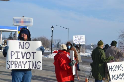 Protest blur
