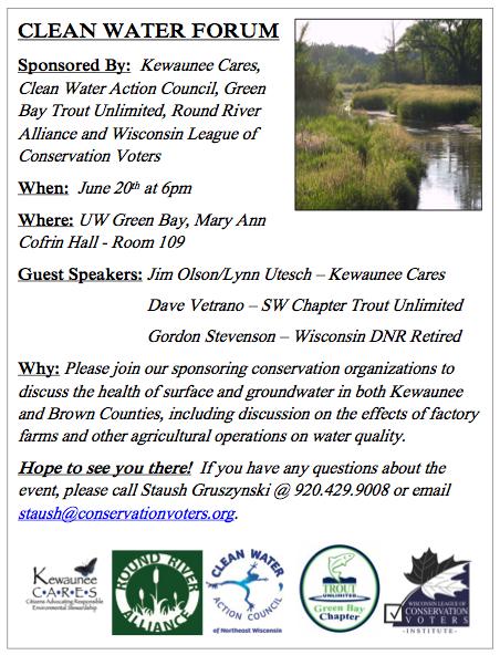 Clean Water Forum Flyer